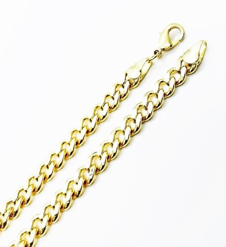 Corrente Masculina Lacraia 6mm 70cm Banho Ouro 18k 3091