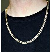 Colar Masculino Grumet Riscado 60cm Banho De Ouro 18k 3097
