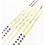 Colar Contas E Losangos Decorados 90cm Banho Ouro 18k 3071