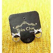 Brincos Laço Com Círculo De Zirconias Banho Ouro 18k 3801