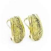 Brincos Cravejados Zirconias Opala Banho Ouro 18k 3765