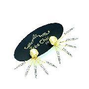 Brincos Ear Jacket Liberty Zirconias Banho Ouro 18k 3761