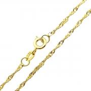 Colar Cordão Singapura 0,2 50cm Banho De Ouro 18k 4775