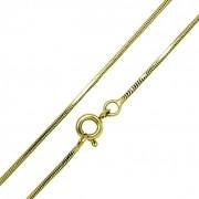 Corrente Cordão Rabo De Rato Diamantado 1.0 70cm Banho De Ouro 18k 4643