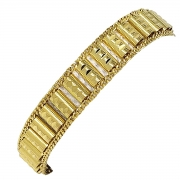 Pulseira Diamantada Banho De Ouro 18k 1214