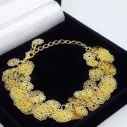 Pulseira Floral Banho De Ouro 18k 1221