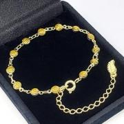 Pulseira Glitter Ouro Antigo Banho De Ouro 18k 2225