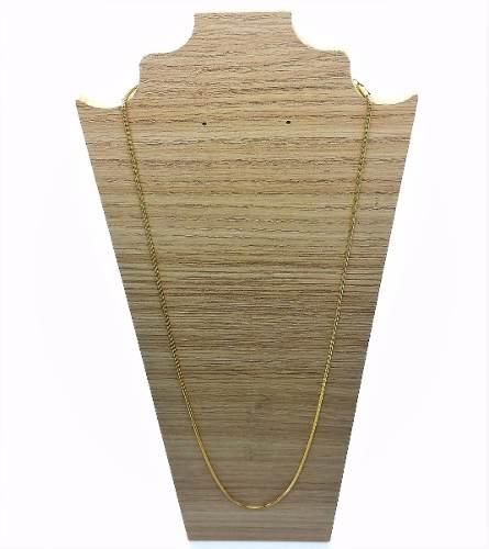 Corrente Cordão Masculino Rabo De Rato 80cm Banho Ouro 18k 1831
