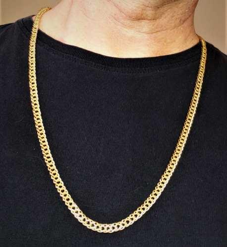 Corrente Cordão Masculino Grumet 70cm Banho Ouro 18k 2230