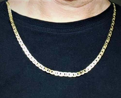 Corrente Masculina Piastrine 4,5mm 60cm Banho Ouro 18k 1836
