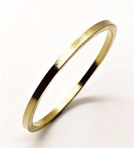 Bracelete Escovado Banho Ouro 18k 1808