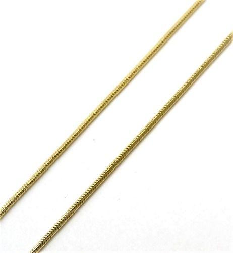 Corrente Cordão Fio Alemão 1.0 60cm Banho Ouro 18k 4390