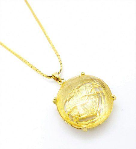Cordão Com Pingente Coração Cristal Banho Ouro 18k 4173