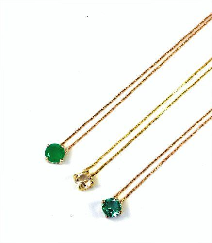 Gargantilha Ponto De Luz Zirconia 45cm Banho Ouro 18k 4160