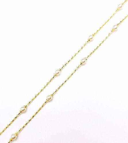 Colar Pérolas 70cm Banho Ouro 18k 4151