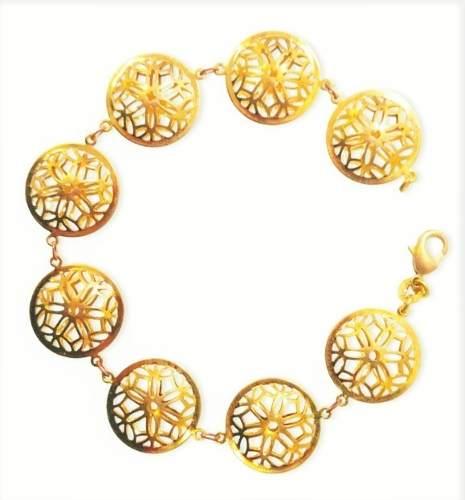 Pulseira Mandala Banho Ouro 18k 3806