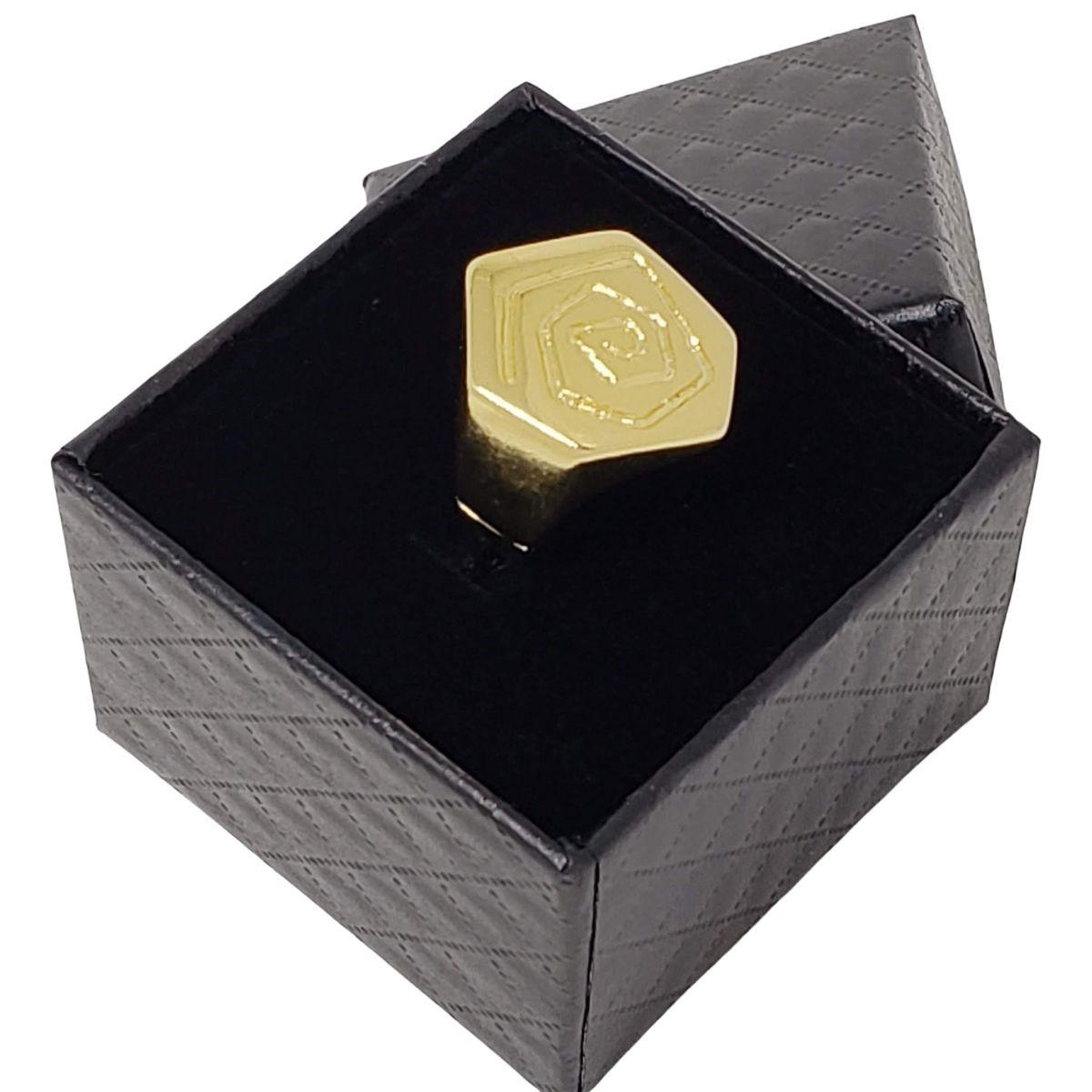 Anel Chapinha Flor Banho De Ouro 18k 1172
