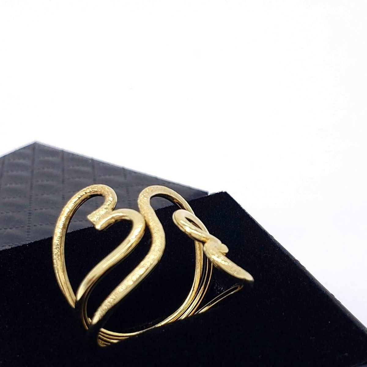 Anel Coração Aro 3 Fios Banho De Ouro 18k 2201