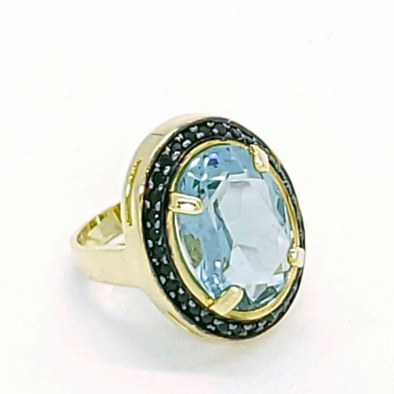 Anel Cristal Cravejado Com Zirconias Banho De Ouro 18k 2477