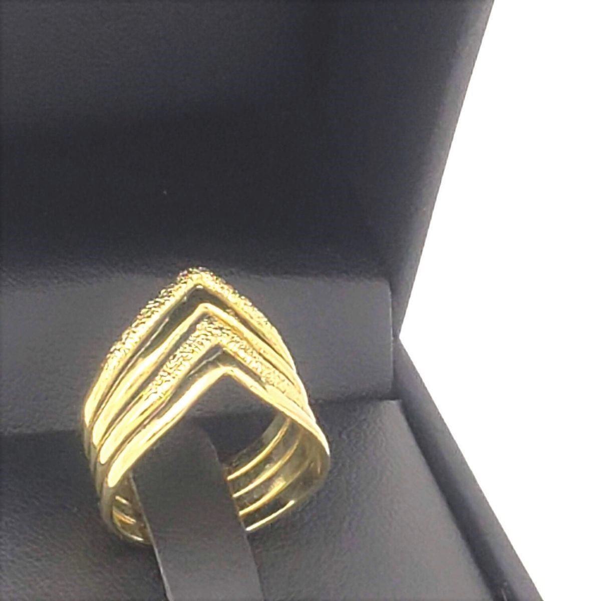 Anel Diamantado Banho De Ouro 18k 2466