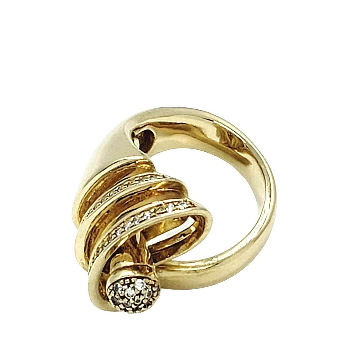 Anel Duquesa Ajustável Cravejado Com Zirconias Banho De Ouro 18k 816