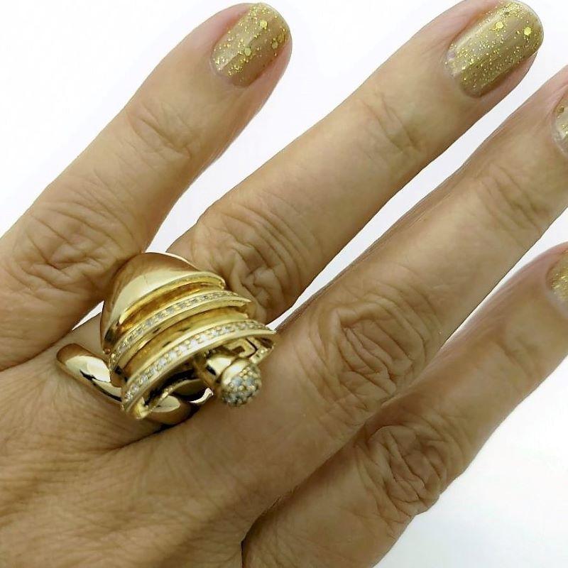 Anel Duquesa Cravejado Com Zirconias Banhado de Ouro 18k 816