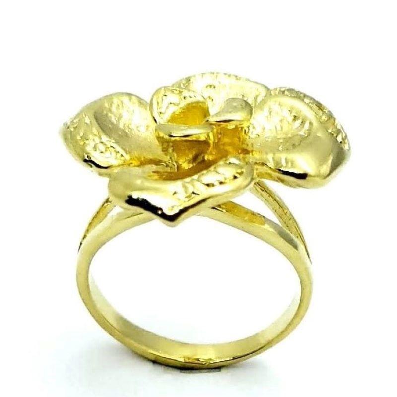 Anel Flor Banhado A Ouro 18k 1182