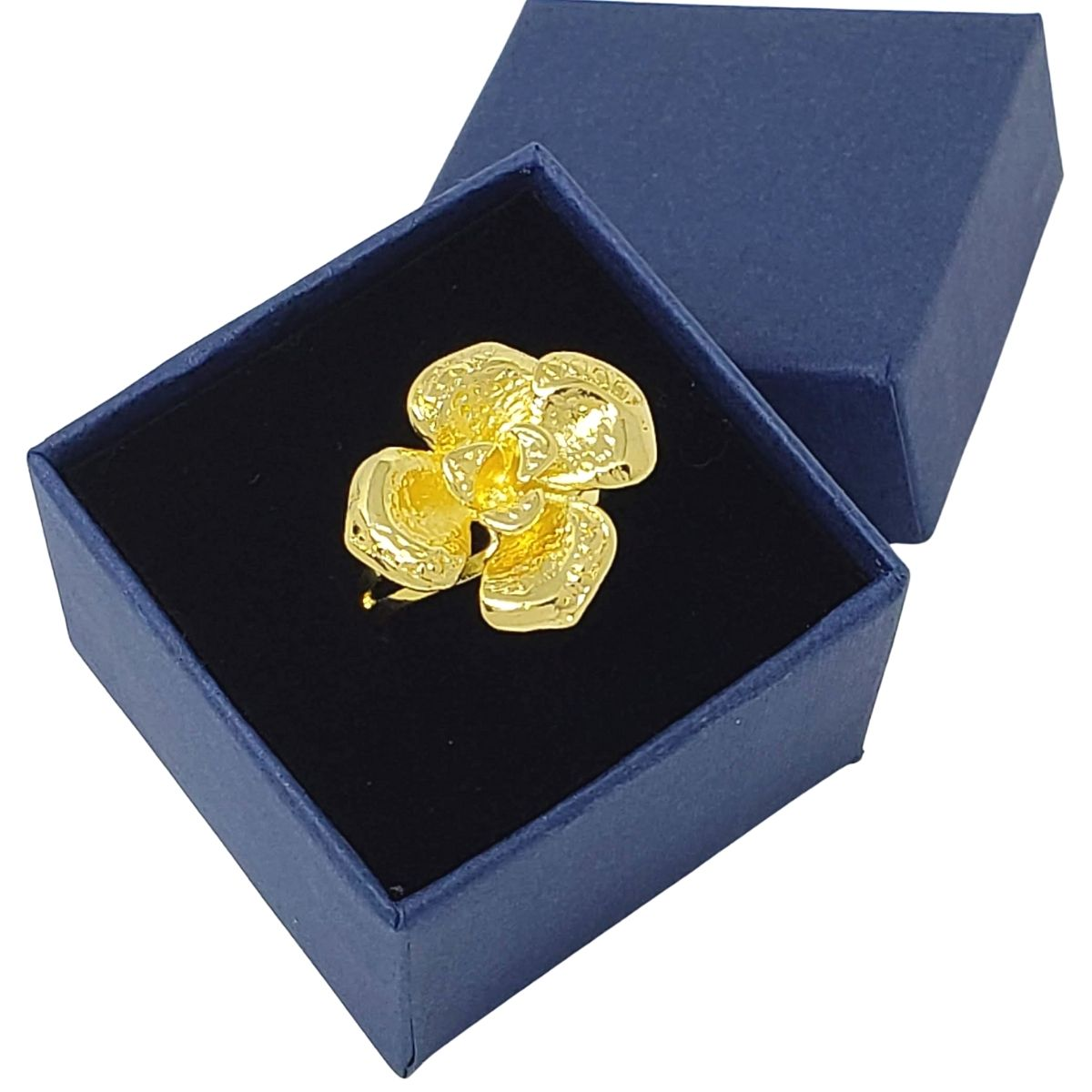 Anel Flor Banho De Ouro 18k 1182