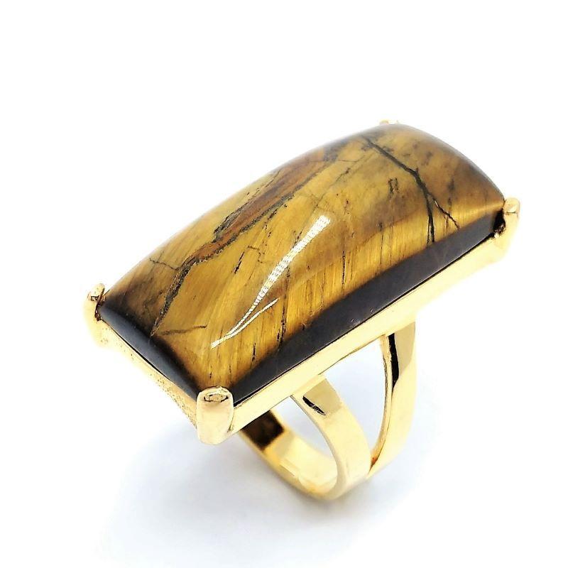 Anel Com Pedra Natural Banho De Ouro 18k 1598
