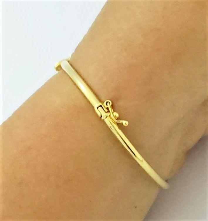 Bracelete Algema Borboleta Zirconias Banho Ouro 18k 4611
