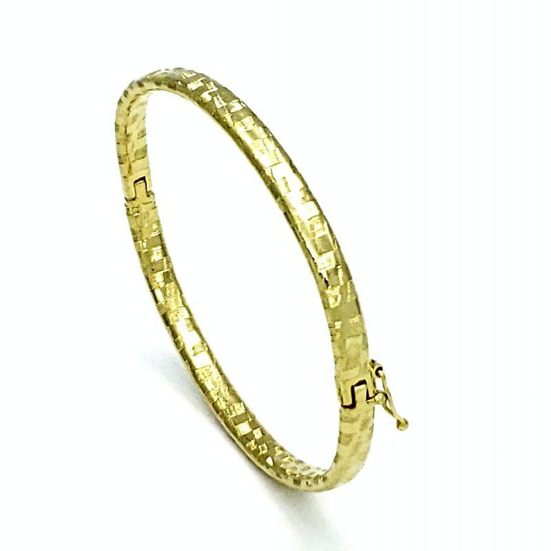 Bracelete Algema Diamantado Banho De Ouro 18k 1753