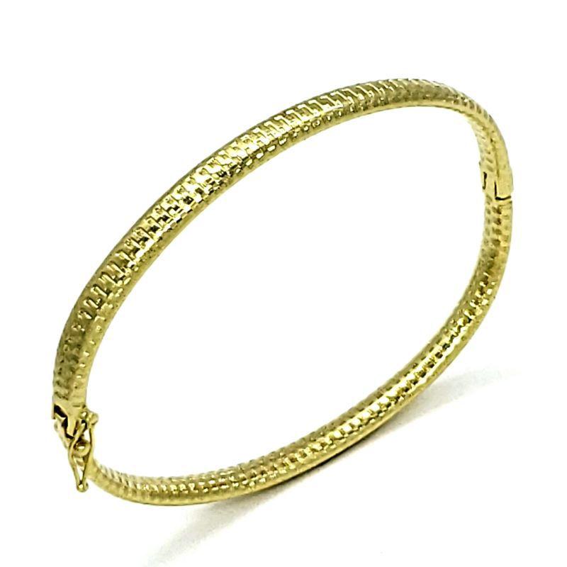 Bracelete Algema Diamantado Banho De Ouro 18k 1807