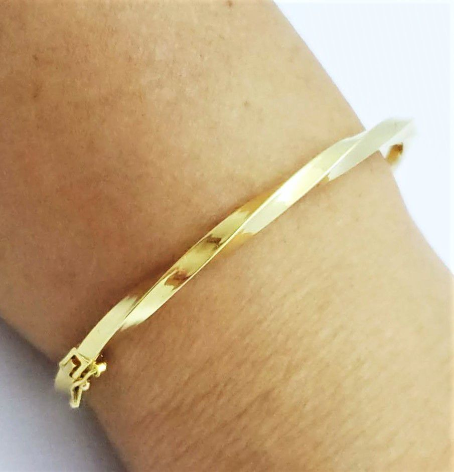 Bracelete Algema Torneado Banho Ouro 18k 4619