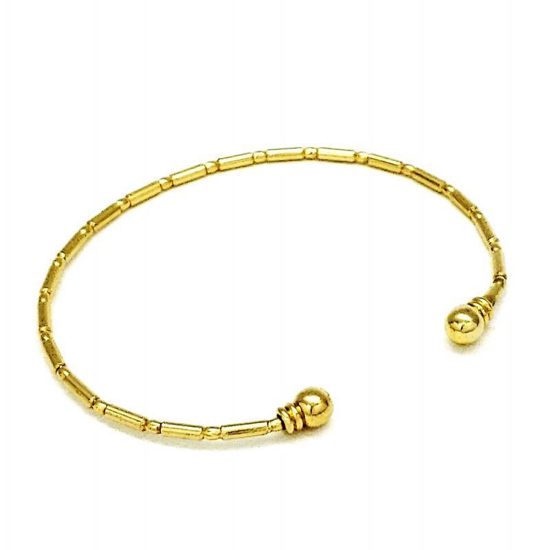 Bracelete Bambuzinho Banhado A Ouro 18k 986