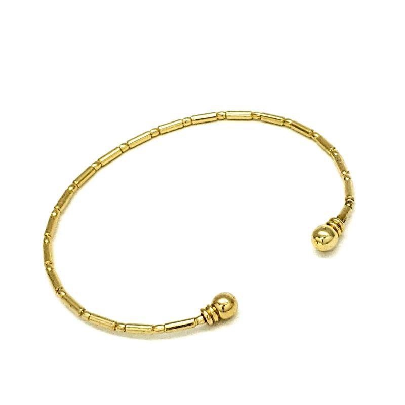 Bracelete Bambuzinho Banho De Ouro 18k 986