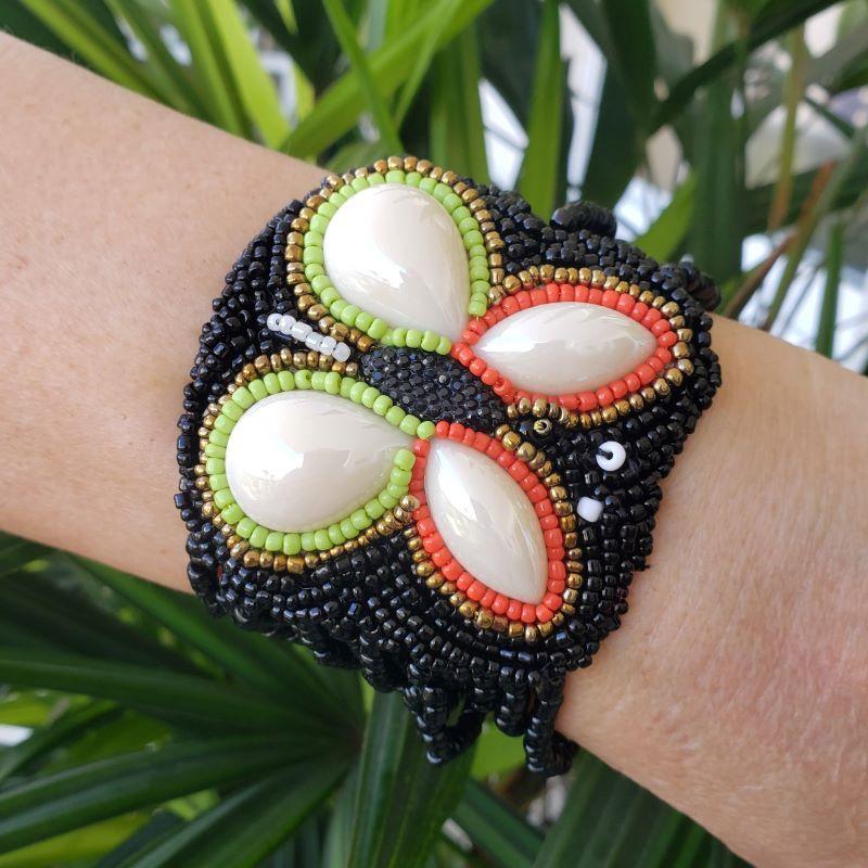 Bracelete Borboleta Mosaico De Contas 4486 4487