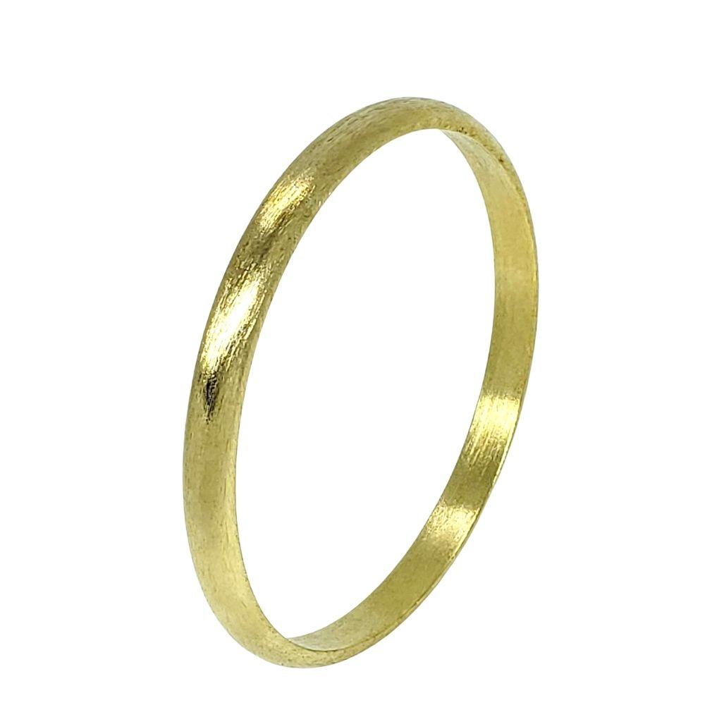 Bracelete Meia-cana Escovado Banho De Ouro 18k 1809