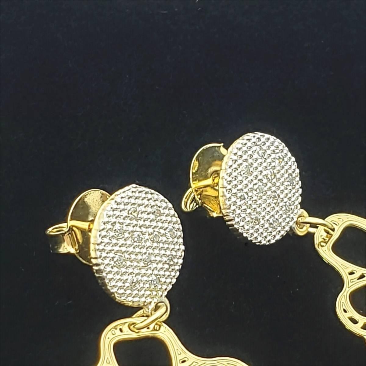 Brincos Argolas Cravejados Banho De Ouro 18k 2505