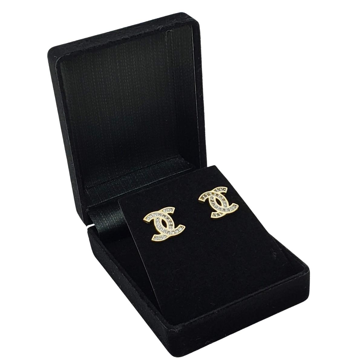 Brincos Cravejados De Zirconias Banho De Ouro 18k 2280