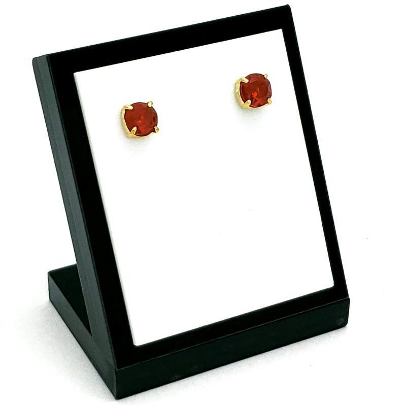 Brincos De Pedras Cristal Lapidação Brilhante Banhados A Ouro 18k 1390F
