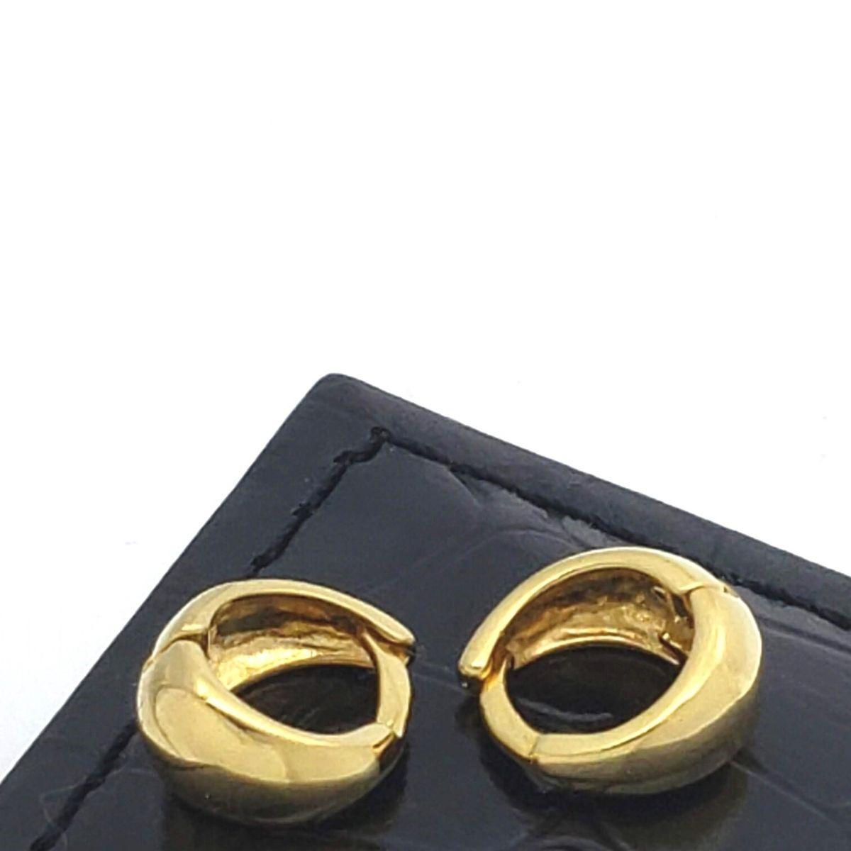 Brincos De Argolas Segundo Terceiro Furo Banho De Ouro 18k 2415