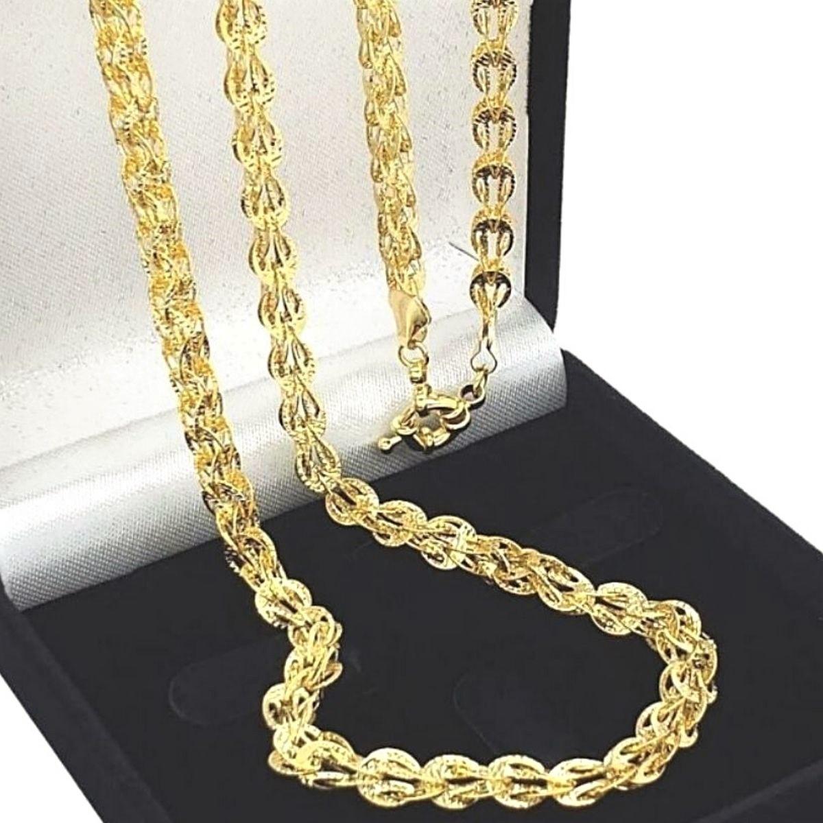 Colar Athina 75cm Banho De Ouro 18k 2250