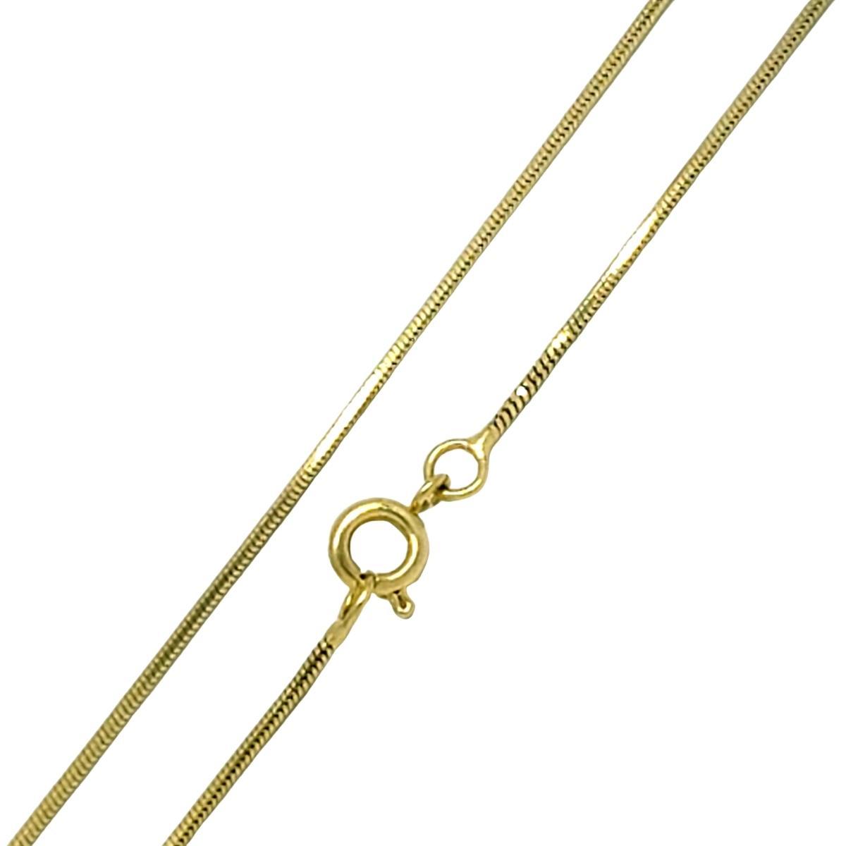 Colar Cordão Rabo De Rato 1.0 45cm Banho De Ouro 18k 1236