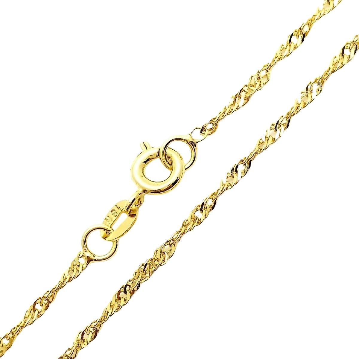Colar Cordão Singapura 0,25 40cm Banho De Ouro 18k 4779