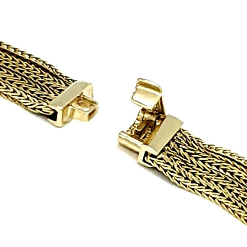 Colar Cordoba 6 Fios Enlaçados Banhado A Ouro 18k 1113