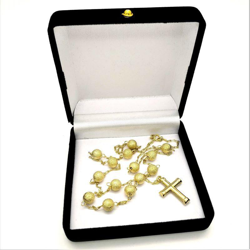 Colar Terço Diamantado 60cm Banhado A Ouro 18k 1231