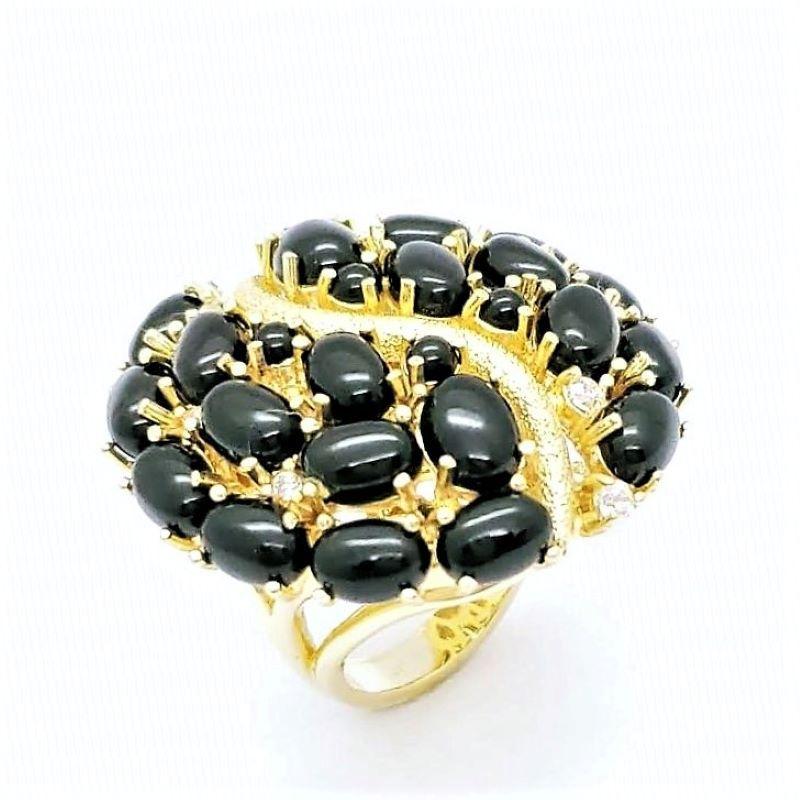 Anel E Brincos Pedras Naturais Cravejados De Zirconias Banho De Ouro 18k 873 874