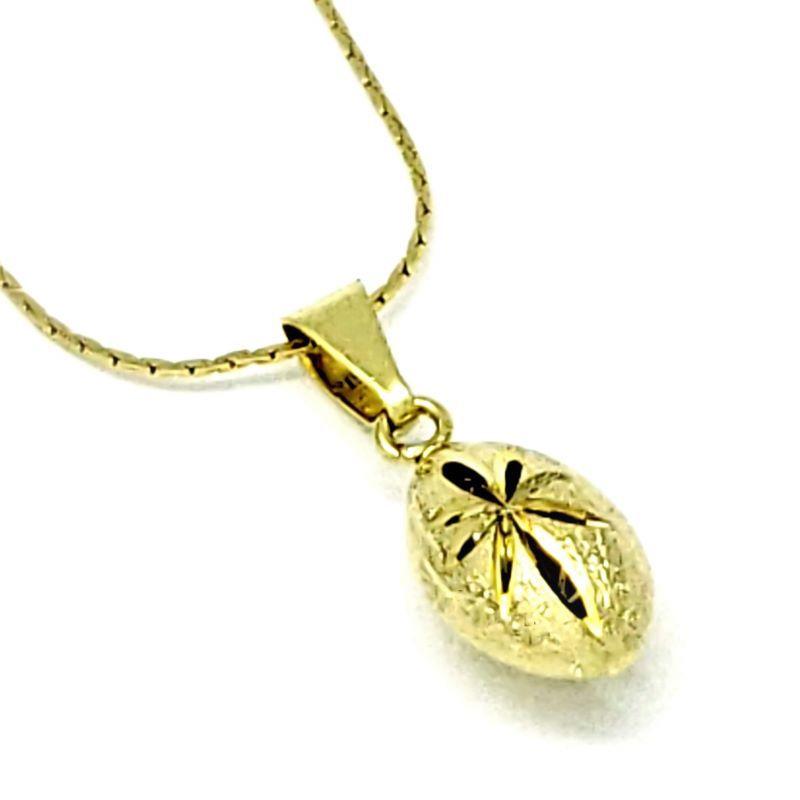 Cordão Com Pingente Flor Diamantada Banho De Ouro 18k 3302