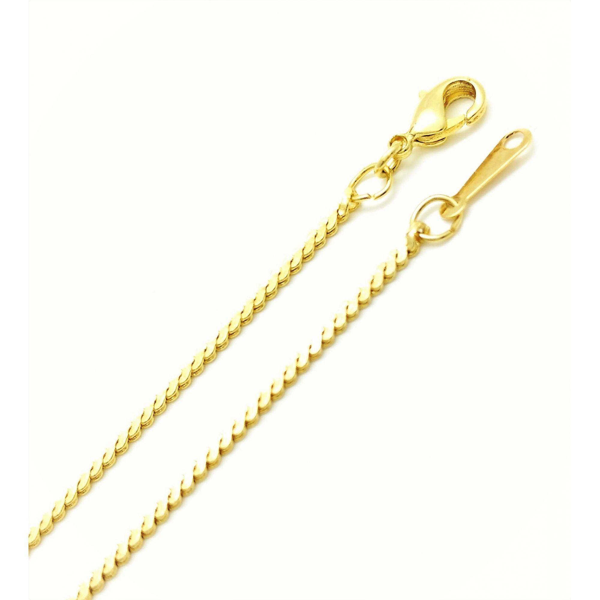 Colar Cordão Cabelo De Anjo 1,3mm 50cm Banho De Ouro 18k 3149