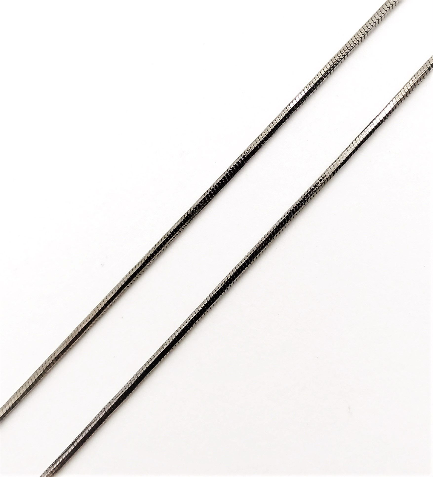 Corrente Cordão Rabo De Rato 1.2 80cm Ródio Negro 4399